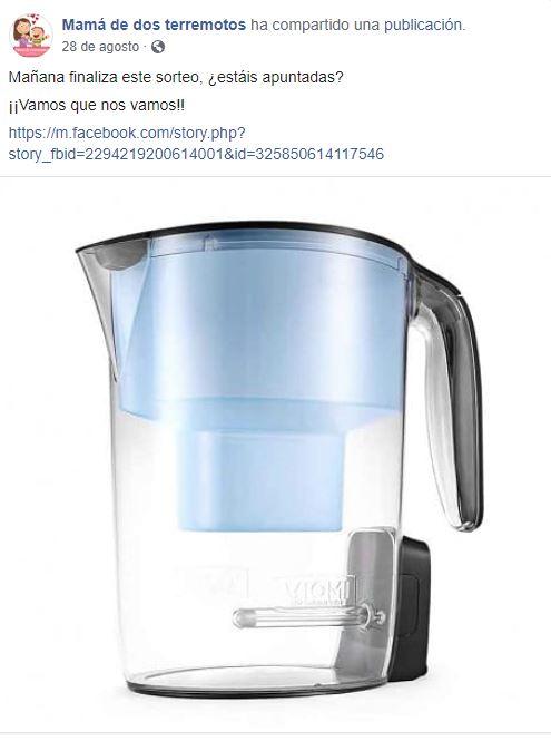 Sorteo Jarra Facebook